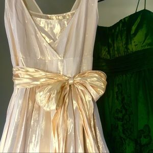 Calvin Klein Gold Silk Dress